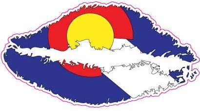 Colorado Flag Lips Vinyl Car Window Laptop Bumper Sticker decal