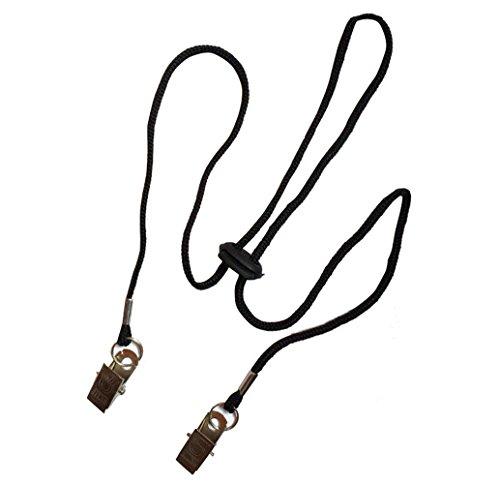 - 3PCS Black 35.4'' Adjustable Elderly/Adult/Baby/Toddler Napkin Fixing Clip Dental Bib Clasp Holder Lanyard Neck Strap for Towel Apron Blanket Travel Outdoor Must-haves
