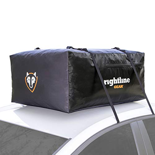 Rightline Gear Sport Jr Car Top Carrier, 10 cu ft Sized for Compact Cars, 100% Waterproof Zipper, Attaches With or Without Roof Rack