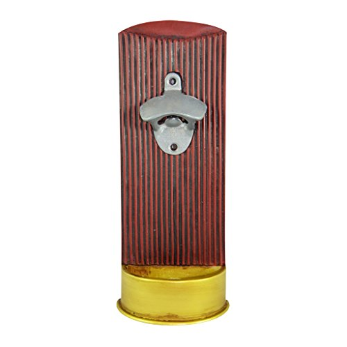 Pine Ridge 12 Gauge Buckshot Shotgun Shell Wall Mount Bottle Opener - Beer Bottle Opener With Cast Iron Lip - Beer Barware Accessories and Gifts