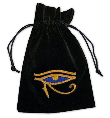 FindSomethingDifferent Egyptian Eye of Horus Luxury Velvet Tarot Card Bag