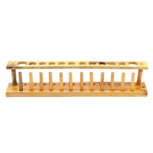 UKCOCO Wooden 12 Vents Lab Test Tube Rack Holder Pipe Stand