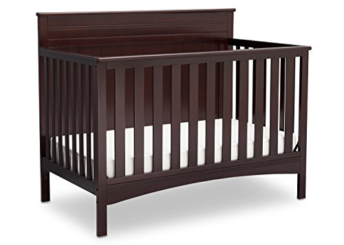 Delta Children Fancy 4-in-1 Crib, Dark Chocolate - Crib Toddler Daybed