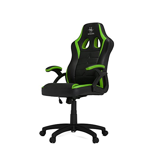 HHGears SM115 PC Gaming Racing Chair Black and Green