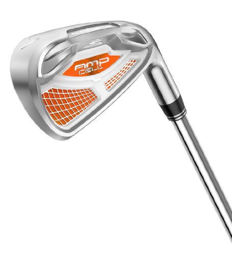 Cobra Amp Cell Men's Silver Iron Set, Right Hand, Steel, Stiff, 4-GW