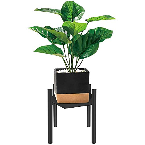 Plant Stand for Indoor and Outdoor, Wrought Iron, Tiered Planet Stands, Flower Pots, Metal Potted Holder for Garden, House, Patio. Tall Planet Stand Display Up to 10 Inch Planter - Black (Outdoor Iron Stands Planter Wrought)