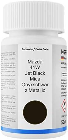 Mg Prime Autolack Lackstift Set Für Mazda 41w Jet Black Mica Onyxschwarz Metallic Basislack Klarlack Je 50ml Auto