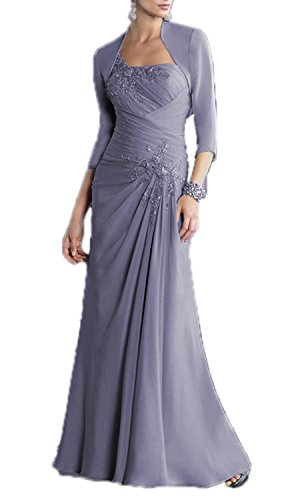ALfany Women's Chiffon Mother of the Bride Dress Formal Gown with Jacket US10