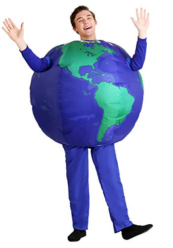 Adult Inflatable Earth Costume Standard Blue]()