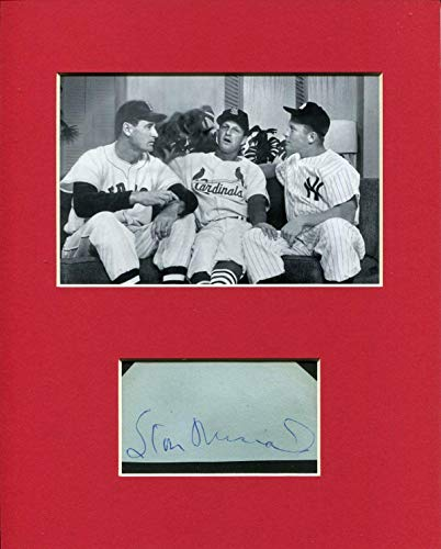 Stan Musial Signed Photo - Stan Musial Rare Signed Autograph Photo Display With Mickey Mantle Ted Williams - Autographed MLB Photos