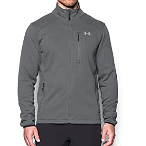 Under Armour Men's Coldgear Granite Fleece Jacket, XX-Large, Graphite / Overcast Grey