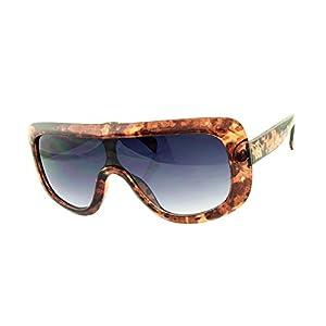 ROXX- Oversized Fashionable Light Brown Tortoise with Smoke Blue Lens