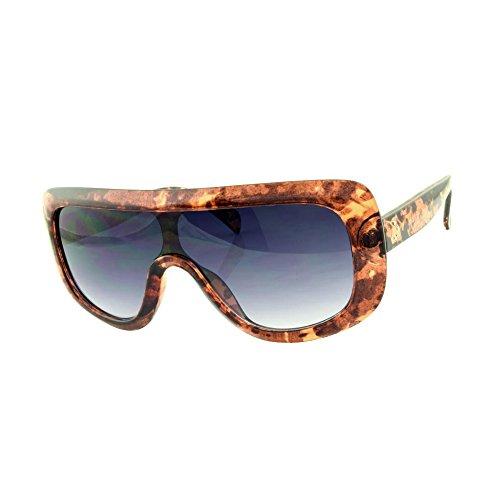 ROXX- Oversized Fashionable Light Brown Tortoise with Smoke Blue - With Kardashian Kim Sunglasses