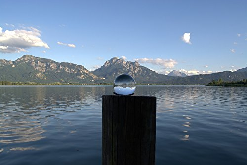 Home Comforts LAMINATED POSTER Globe Image Glass Ball Ball Lake Forggensee Lake Poster 24x16 Adhesive Decal by Home Comforts