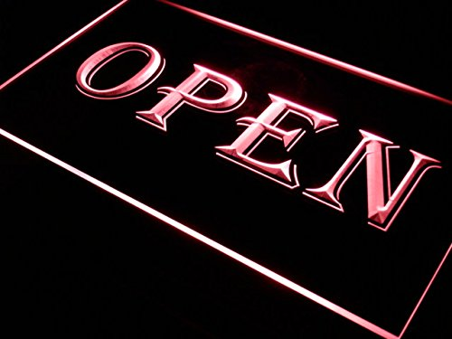 ADVPRO Cartel Luminoso i019-r Open Shop Cafe Bar Pub ...