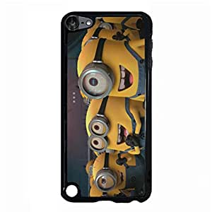 Fun Cartoon Design Minions Logo Phone Case Ipod Touch 5th Generation Moulded Cover Case with Creative Minions Anime Style