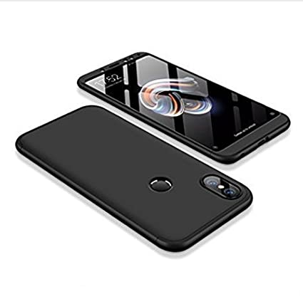 wholesale dealer 0c231 fc50e Praksh Ipaky 360 Degree All-Round Front and Back Protective Slim Fit  Fashionable Case with Tempered Glass for Xiaomi Redmi Note 5 Pro (Black)