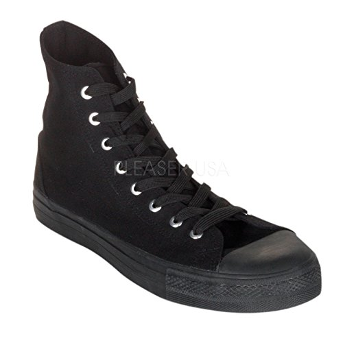 DEMONIA Pleaser Demonia Deviant 101 BlacK Demonia Deviant-101 Canvas High Top Sneakers outlet very cheap discount pick a best good selling for sale top quality free shipping low cost CIZnK