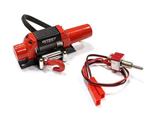 Integy RC Model Hop-ups C25452RED Billet Machined T5 Realistic High Torque Mega Winch for 1/10 Scale Rock Crawler