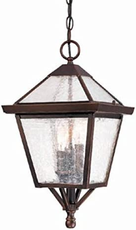 Acclaim 7616ABZ Bay Street Collection 3-Light Outdoor Light Fixture Hanging Lantern, Architectural Bronze