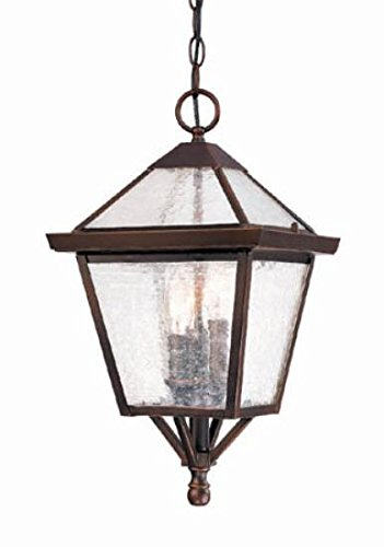 Acclaim 7616ABZ Bay Street Collection 3-Light Outdoor Light Fixture Hanging Lantern, Architectural Bronze by Acclaim