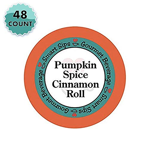 Smart Sips Coffee, Pumpkin Spice Cinnamon Roll Coffee, 48 Count, Compatible With All Keurig K-cup Brewers ()