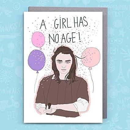 Juego de Tronos cumpleaños tarjeta de Kasia - Arya Stark/una ...