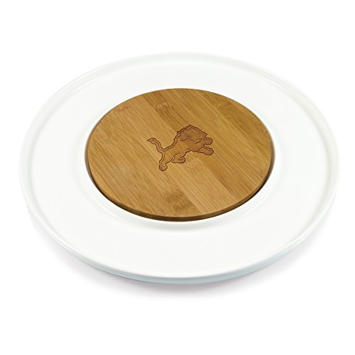 PICNIC TIME NFL Detroit Lions Island Laser Engraved Cutting Board, One Size, Natural (Detroit Lions Natural)