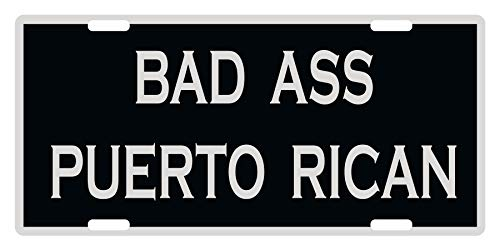 Fast Service Designs Bad Ass Puerto Rican Custom License Plate Emblem Version