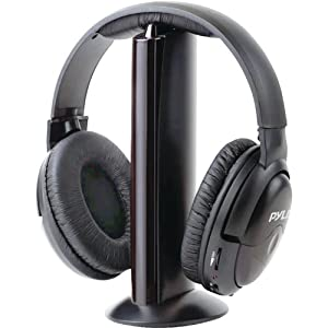 Stereo Wireless Over Ear Headphones – Hi-fi Headphone Professional Black Monitor Headset with 30m Range, Noise Isolation…