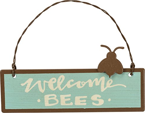 Primitives by Kathy PBK Summer Decor - Welcome Bee Small Tin Sign Ornament]()