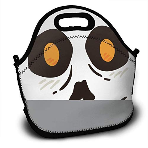 (HGDGF Variety Daily Halloween Portable Love Lunch ContainerReturn Picnic Lunch Box Handbag for Women Men And Adults£¬ Printing Wear)