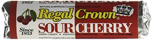 Regal Crown Hard Candy Rolls - Sour Cherry 24 ct by Iconic Candy ()