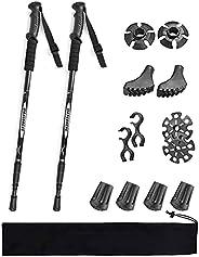 Lambony Walking Trekking Poles 2Pack Hiking Sticks for Women with Antishock and Quick Lock System, Telescopic,