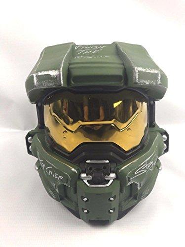 Coa Masters (Steve Downes Autograph Halo Master Chief Full Size Helmet COA Proof RARE 1 - JSA Certified - Autographed NFL Helmets)