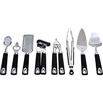 (Maxam KTUT8 8 Piece Stainless Steel Kitchen Tool Set)