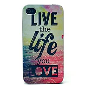 JJE Live Life of Sea Pattern Hard Case for iPhone 4/4S