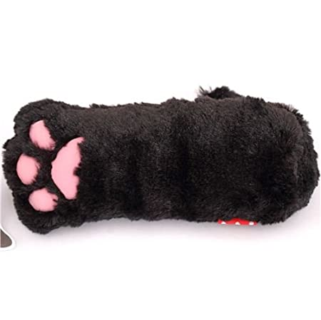 Amazon.com: kawaii black animal cat paw plush pencil case from Japan: Toys & Games