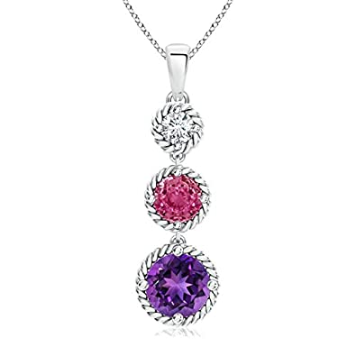Angara five stone round pink sapphire journey pendant 2utbzzqmf angara five stone round pink sapphire journey pendant 2utbzzqmf aloadofball Image collections