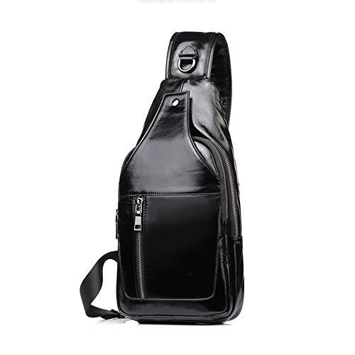 Nero Sport Colore in Casual Escursionismo Casual Sport Uomo Sport Daypack Bag Crossbody Outdoor Zaino Crossbody Viaggi Uomo pelle pPRT7