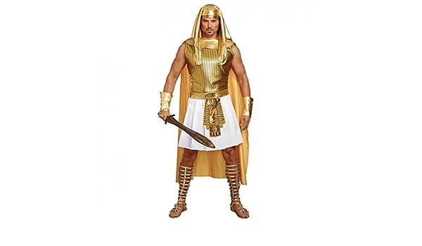 Premium Bodywear AG Disfraz Egipcio Ramsés, Oro, Carnaval faraón ...