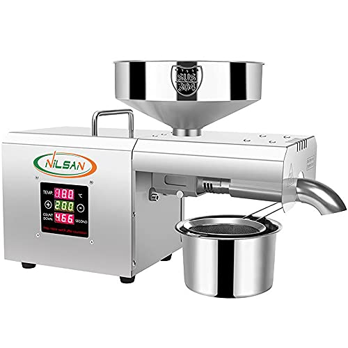 NILSAN Oil Press Machine with digital temperature controller 650w stainless steel