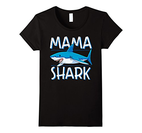 Scuba Diver And Shark Costume (Womens Mama Shark T Shirt Family Matching Mommy Mom Women Jawsome Large Black)