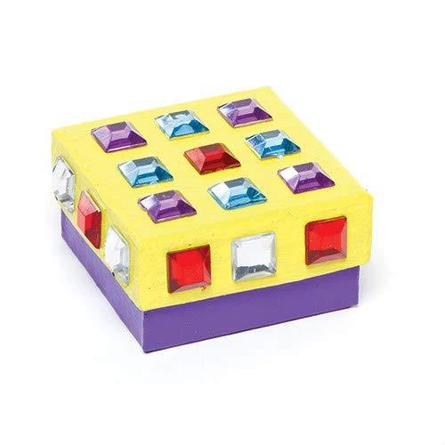 bolsos de fiesta y decoraciones tarjetas paquete de 24 para manualidades y proyectos de arte para ni/ños Baker Ross Joyas de acr/ílico cuadradas autoadhesivas