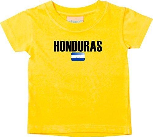 Shirtstown Bebé Niños Camiseta Fútbol Camiseta de País hunduras - amarillo, 0-6Monate