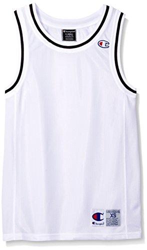 Champion Men's Life City Mesh Tank Jersey Top, White, XS