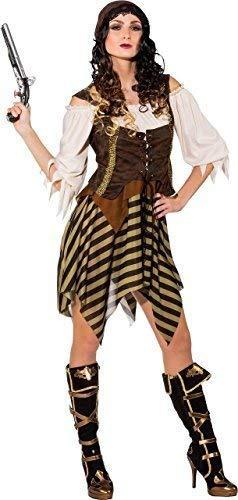 Fancy Me Disfraz de Pirata para Mujer del Caribe con Texto en ...