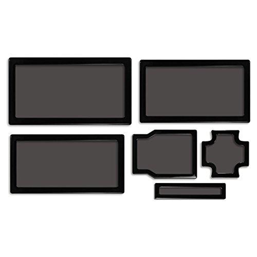 DEMCiflex Dust Filter Kit for Cooler Master N400, Black Frame, Black Mesh by DEMCiflex