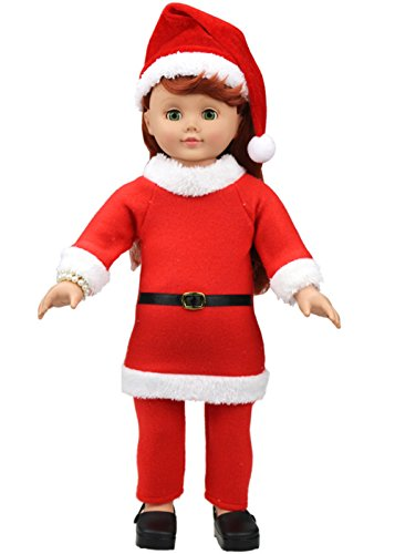 Doll Clothes For 18 Inch American Dolls Christmas Costume 3 Piece 18 Inch Girl Doll Clothes Present