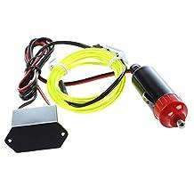 SODIAL(R) LED Flexible EL Wire Neon Glow Tube Lamp Light DC 12V Inverter for Car, 1M Fluorescent green